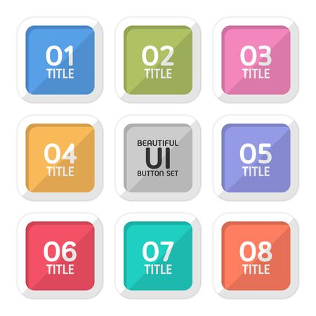 Beautiful user interface button set created for designers in the design of all kinds of works. Beautiful and modern Button which can be used in many purposes. Eps10 vector.