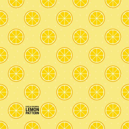 Cute and colorful lemon pattern. A seamless vector background. This is a simple vector illustration with harmonious blend of retro and modern styles.