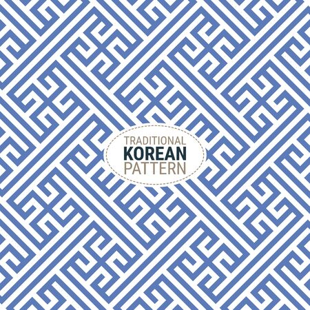 Traditional Korean pattern. This is a simple vector illustration with harmonious blend of retro and modern styles. The color can be changed if needed. Illustration