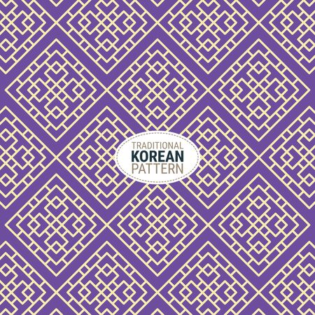Traditional Korean pattern. This is a simple vector illustration with harmonious blend of retro and modern styles. The color can be changed if needed. Eps10 vector.