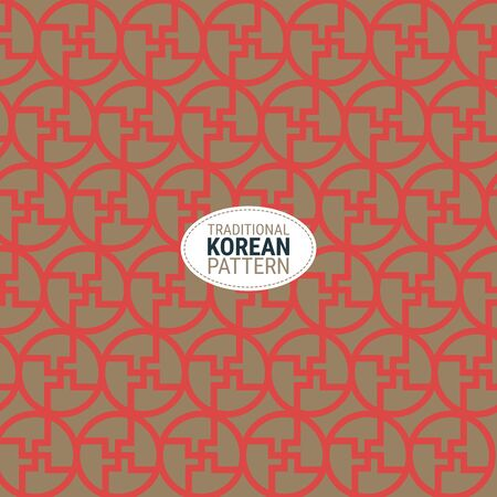 Traditional Korean pattern. This is a simple vector illustration with harmonious blend of retro and modern styles. The color can be changed if needed. Eps10 vector. Illustration