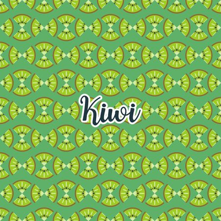 Cute and colorful kiwi pattern. A seamless vector background. This is a simple vector illustration with harmonious blend of retro and modern styles. vector.