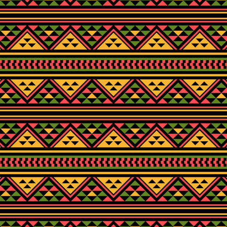 Traditional African pattern. This is a simple vector illustration with harmonious blend of retro and modern styles. The color can be changed if needed. Vecteurs