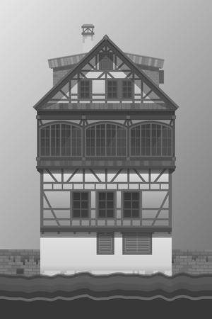 fachwerk: Old house fachwerk style