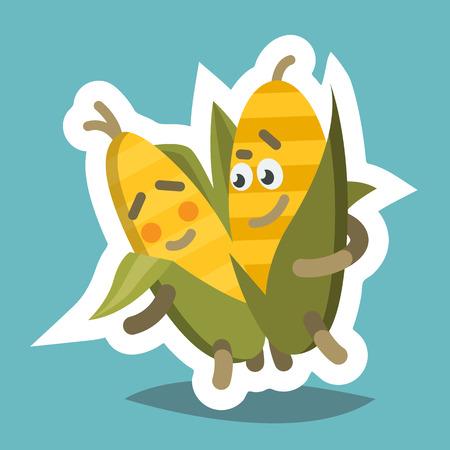 Emoticom Icon Romantic Corn Illustration