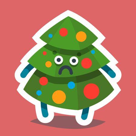 Emoticon Icon Happy New Year Fir Tree