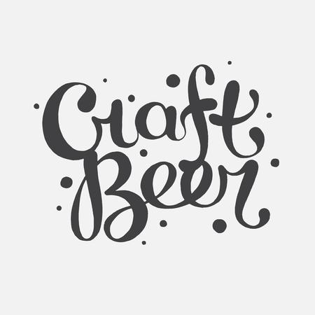 eslogan: Texto dibujado mano de la cerveza del arte de las letras de la mano Vectores
