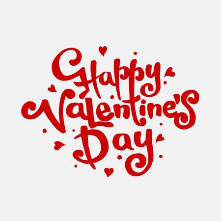 fourteen: Happy Valentines day hand drawn lettering