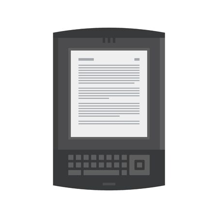 magazine stack: Electronic mobile book with keyboard icon.