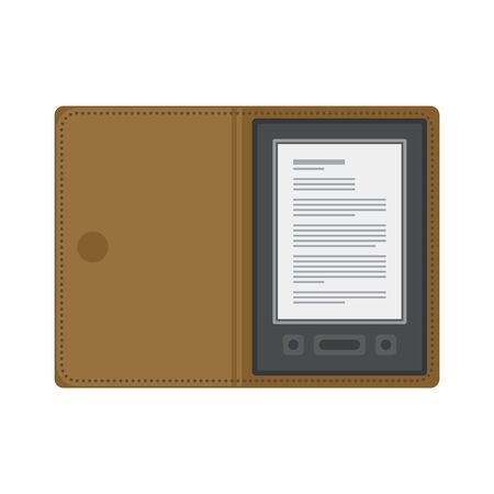 electronic book: Electronic mobile book with liver cover. Stock Photo