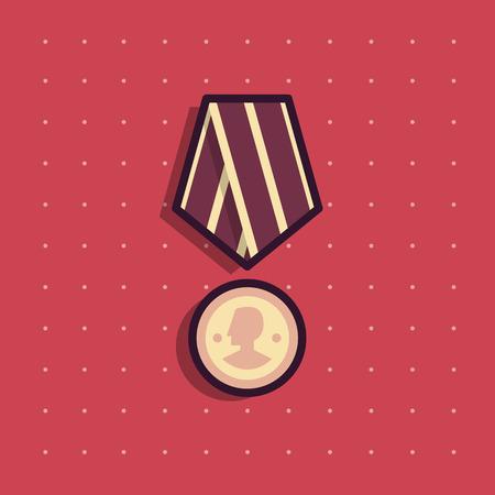Icon of public commemorative award medal.