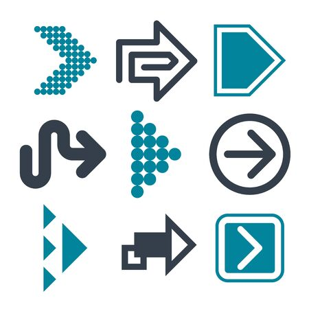 Arrows icon set, vector collection. Cursor. Modern simple icon. Big set of vector flat arrows for web design, mobile apps, interface and more. Vector illustration