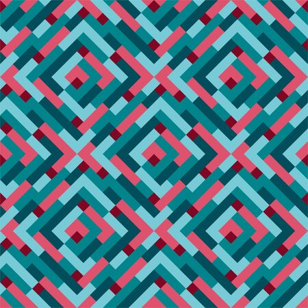Seamless modern flat pattern. Lines and dots. Colorful background or wallpaper. Vector illustration.