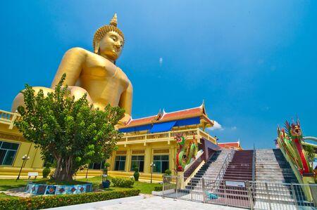 biggest: Biggest buddhaimage in Wat-Muang thailand