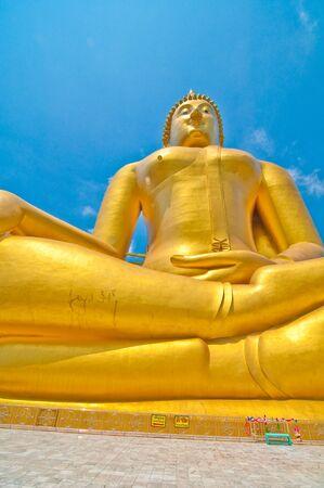 biggest: Biggest gold image of buddha Stock Photo