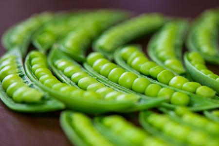 snap: snap peas Stock Photo