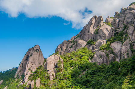huang: Huangshan (Yellow Mountains), a mountain range in southern Anhui province in eastern China. Stock Photo