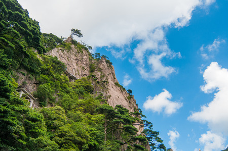 Huangshan (Yellow Mountains), a mountain range in southern Anhui province in eastern China. Stock Photo