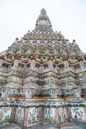 public celebratory event: Wat Arun (Temple of Dawn), Bangkok, Thailand Stock Photo