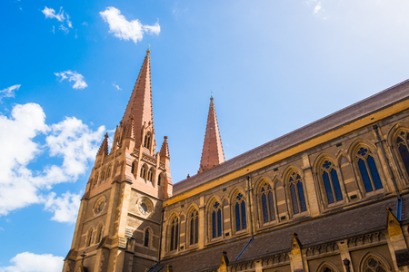 st pauls: St Pauls Cathedral, Melbourne Stock Photo