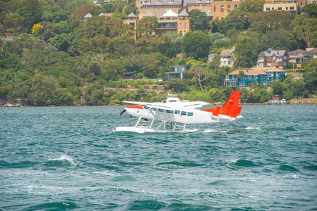 beautiful location: Seaplane in Sydney Editorial