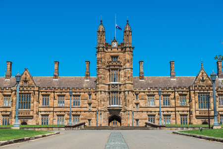 Historic Quadrant Building at Sydney University, Australia.