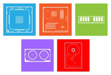 vga: n�cleo del equipo de hardware tales como la placa base de la CPU vga ram disco duro.