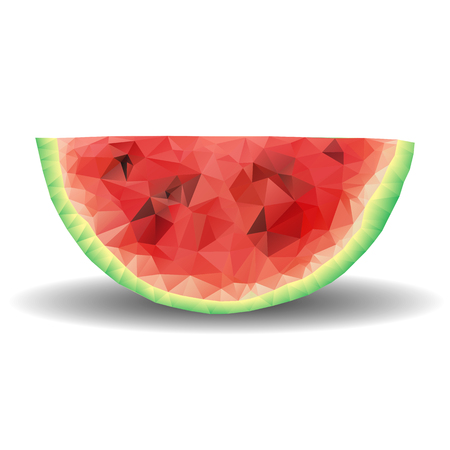 Watermelon-shaped polygon Eat colorful