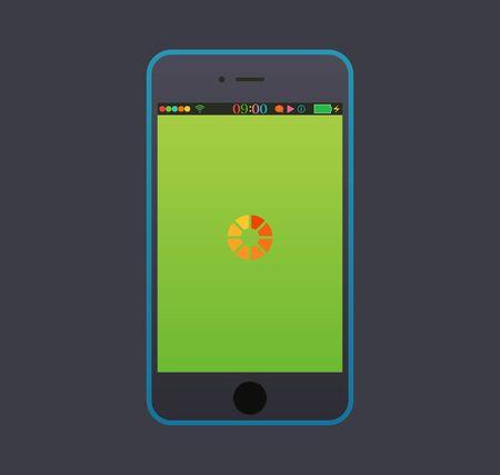 The smart phone modern interface.