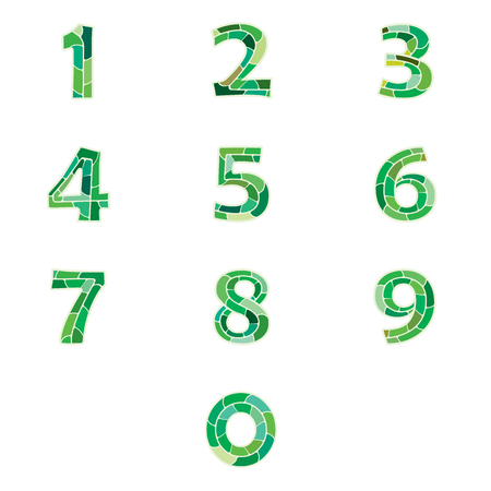 Numbers set in green python pattern