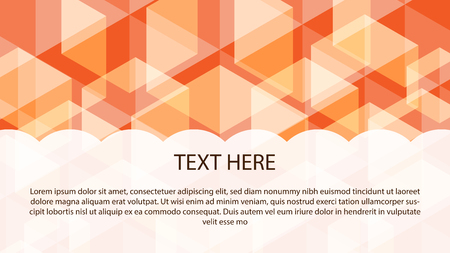 The Orange abstract banner background Template with space for your text