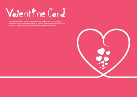 Valentine Card Template for insert your idea text. Illustration