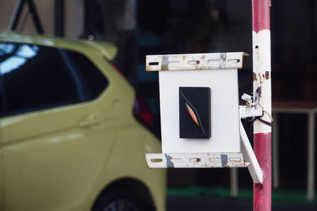 Device and technology for car parking access control.