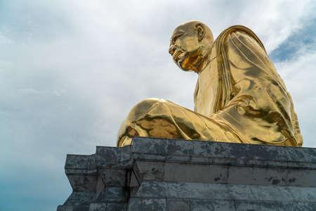 RAYONG, THAILAND - JULY 25: Idol of Wat Luang Poo Tim.