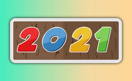 Happy New Year elegant design of 2021 logo numbers. Element for cover design. Illustration