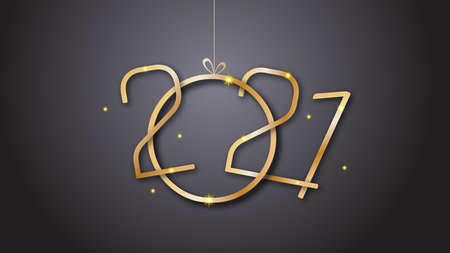Golden typography for 2021 designs and new year celebration.