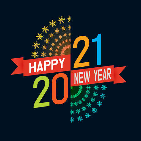Beautiful text 2021 decorated with fireword for Happy New Year celebrations.