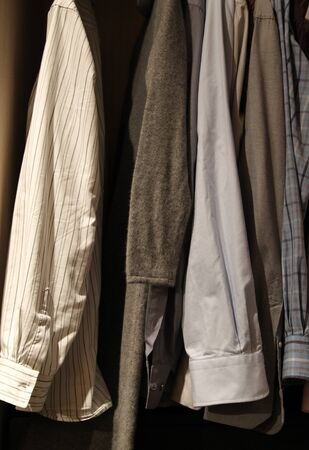 shirts in the closet