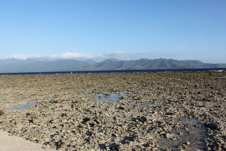 revulsion: ocean after ebb tide, the island of Gili Meno, Indonesia