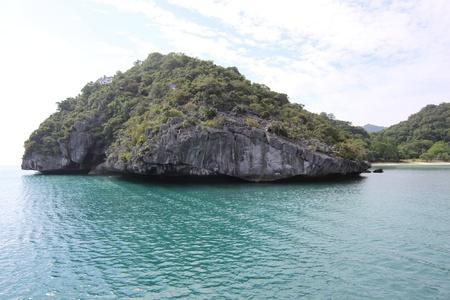onbewoond: onbewoond eiland, een nationaal marien park, Koh Samui, Thailand, Zuidoost-Azië