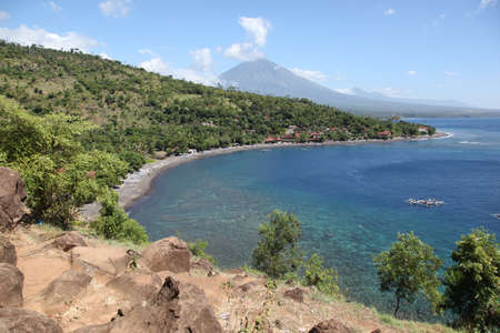 Bay in the village of Amed, Bali, Indonesia, South East Asia Stock Photo