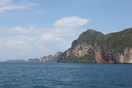 onbewoond: onbewoond eiland, een nationaal marien park, archipel van Koh Ngai, Thailand, Zuidoost-Azië