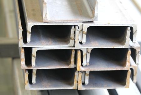 metal profiles channel  foundation for building structures, steel Stock Photo - 13439692