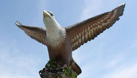 A statue of the eagle symbol of the island of Langkawi, Malaysia photo