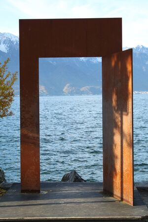 montreux: view of Montreux Switzerland, Central Europe, autumn Stock Photo