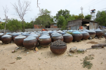tanks for fish sauce, Vietnam, South East Asia