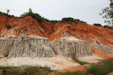 Red River is formed by the smearing of red sand, Vietnam, Southeast Asia