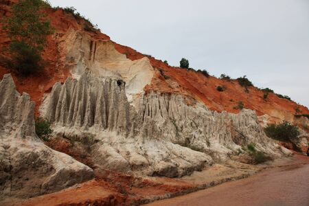 southeast asia: Red River is formed by the smearing of red sand, Vietnam, Southeast Asia