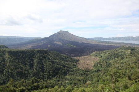 extinct: View of the extinct volcano, Bali, Indonesia, Southeast Asia