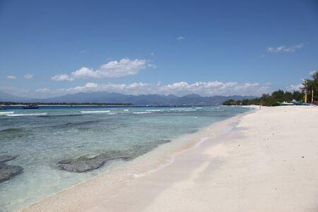 equator: Beach Gili Islands, Indonesia, on the equator